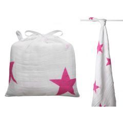 Aden + Anais Classic Collection Muslin Swaddle Wrap Single Pack Pink Star