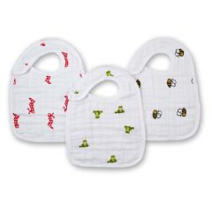 Aden + Anais Classic Collection Snap Bibs 3-Pack Mad about Boy