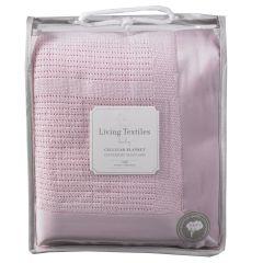 Living Textiles Cellular Blanket Cot Pink