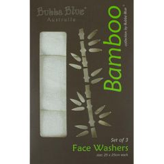 Bubba Blue Bamboo Face Washers
