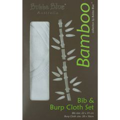 Bubba Blue Bamboo Bib & Burp Set