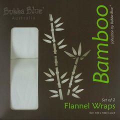 Bubba Blue Bamboo Flannel Wrap White