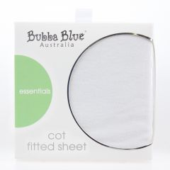 Bubba Blue Everyday Basics Cot Fitted Sheet