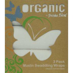 Bubba Blue Organic Cotton 3pk Muslin Wraps