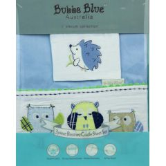 Bubba Blue Boy Baby Owl Bassinet Sheet Set