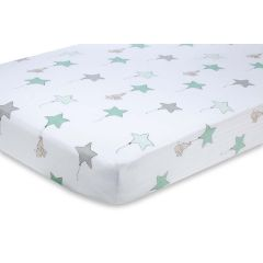 Aden & Anais Up Up Away Elephant Cot Fitted Sheet